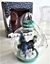 DIESEL ITALY Christmas Ornament Ball BEEEHST WISHES XMAS Goat * New In Box !