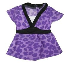 "Purple Leopard Print Tunic Fits 18"" American Girl Dolls"