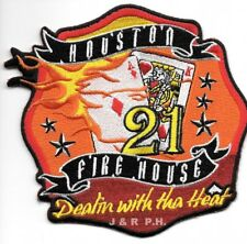 "*NEW*  Houston Station - 21  ""Dealin-Heat"", Texas (4.5"" x 4.5"" size)  fire patch"