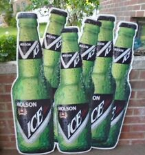 """GORGEOUS CLEAN RARE MOLSON CANADIAN ICE BEER HUGE 38"""" X 30"""" SIX BOTTLES TIN SIGN"""