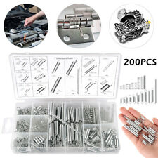 200Pcs Spring Compression Assortment Stock Coil Kit Extension Galvanized Steel