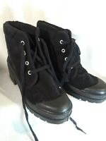 NEW Chinese Laundry Womens Sz 8.5 'Once More' Corduroy Black Ankle Boots Chunky