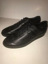 New Men's Dior Homme Sneakers, Taurillon Leather, Black, Size 11.5, 44.5, $800