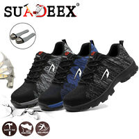 Mens Safety Shoes Mesh Steel Toe Lightweight Work Cap Boots Hiking Trainers US