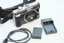 Olympus PEN E-PL1 12.3MP Digital Camera - Black/Silver (Body only)