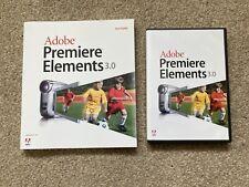 Adobe Premiere Elements 3.0 software del disco e manuale di Windows XP