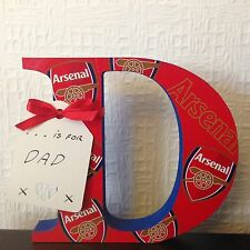 D Is For Daddy Or Any Name Etc Any Letter/Number Arsenal Fathers Day Gift
