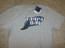NWT NEW Tampa Bay Devil Rays MLB Baseball T-Shirt Fanatics Gray Cotton M Medium