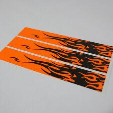 """15 - 4x1"""" Black Flames Fluoro Orange Arrow Wraps"""
