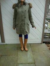 NWT Zara Olive Green Hooded Parka Winter Jacket Coat Size Small