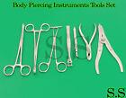 7 Body Piercing Instruments kit Tools Penington Forceps,DS-1030