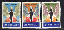 GRECIA/GREECE 1967 MNH SC.901/903 Revolution of April 21