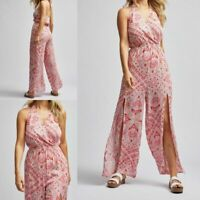 NEW RRP £28 Ex Dorothy Perkins Pink Paisley Print Beach Jumpsuit