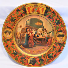 ANTIQUE ADVERTISING DUFF GORDON SHERRY VIENNA ART PLATE TIN TRAY PLATE 1906 BEER