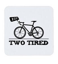 Dos cansado Gracioso Hipster Nerd Bicicleta Ciclismo Montaña rusa Taza de ciclo Mat té café bebida