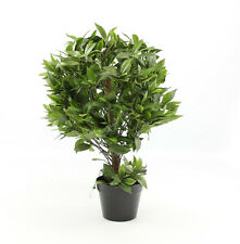 Artificial 2ft / 70cm Bay Laurel Bush Ball Plant Outdoor Use Blooming Artificial