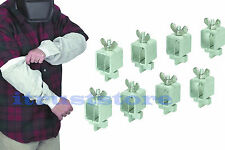 Butt Welding Clamps 8pc & Leather Welding Sleeves Welder Protective Arm Sleeve