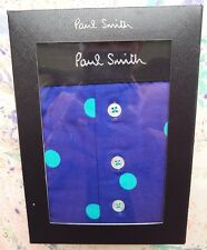 "Paul Smith Mens Underwear 4-Button Trunk Polka Dot Indigo Size M UK 32-34"" BNIB"