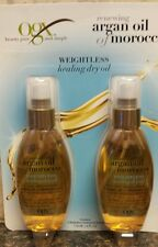 Set 2 ORGANIX RENEWING ARGAN OIL OF MOROCCO WEIGHTLESS HEALING DRY OIL 4oz