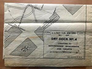 1906 Drawings: US Navy Yard New York, Dry Dock No. 4