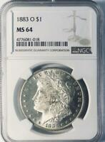 1883-O Morgan Silver Dollar - NGC MS-64 - Certified Mint State 64