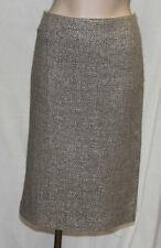 ESCADA Rock Wolle beige silber_Gr:44 / XL_ top Zustand