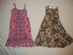 NEW JUSTICE GIRLS SIZE 10 OR 14 CHOOSE EITHER PINK FLORAL OR ANIMAL PRINT DRESS