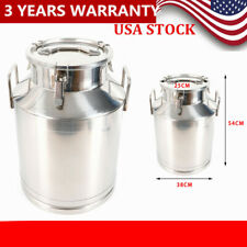 50l Stainless Steel Milk Can Wine Pail Bucket Jug Oil Barrel Canister Bottle Lid