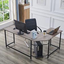 L-förmiger Computertisch Eckschreibtisch Großer Desktop Home Office Workstation