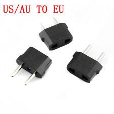 3Pcs USA/Australia to Europe AC Power Plug Adapter Travel Converter US/AU to EU