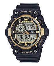 Casio Men's World Time Watch, 100M, 5 Alarms, Chronograph, Resin, AEQ200W-9AV
