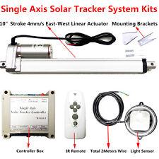 "Single Axis Solar Controller Tracking Sunlight Tracker Kits &10"" Linear Actuator"