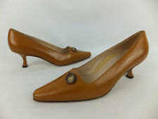 Manolo blahnik pumps - 37,5 (37) - marrón claro-nuevo-con cut-out y botón