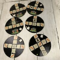 Rare Disney Haunted Mansion Board Game Turntables Six