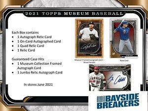 Miami Marlins 2021 Topps Museum Collection Baseball Half Case (6 Box) Break #1