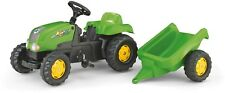 Rolly Toys Kid Tractor and Trailer Ride On - Green
