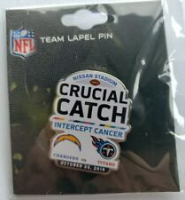 2019 LOS ANGELES CHARGER  VS TENNESSEE TITANS GAME DAY PIN 10/20/19 Crucial