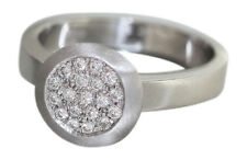 Weißgoldring 750 - Brillantring 0,20 ct. Designerring - massiver Ring Weißgold
