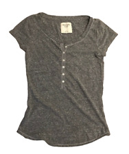 Abercrombie & Fitch Women's T Shirt Grey Short Sleeve Small Cotton Blend