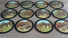 12 Pimpernel Vintage Placemats, 2 Boxes of 6 Tally Ho Hunting Round Table Mats