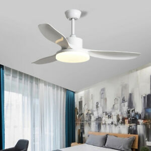 Ceiling Fan With Light LED Remote Control Fans 52''
