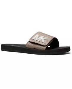 Women Michael Kors MK Logo Pixie Fine Slide Sandals Mutli