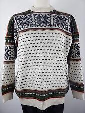 Vintage nordstrikk Homme Nordique Islandais Hiver Pull Chandail Taille XL