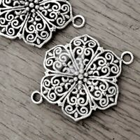 10pcs Tibetan Silver Charms Earring Connectors 20x19MM Jewelry Findings C3064