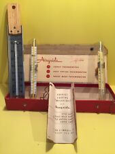 Vintage Airguide #808 Frying Thermometer & Ohio Glass Candy Frying Retro Home