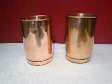2x Pure Copper Glass Cup 300ml Tumbler Drinking Water Ayurveda Yoga Free Ship