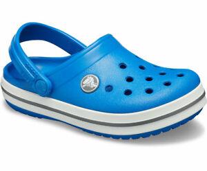 Crocs Kids Crocband Unisex Clogs, Blue (Bright Cobalt/Charcoal), 4 Child UK