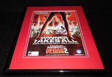 Rainbow Six Vegas 2 2008 Framed 11x14 ORIGINAL Advertisement Tom Clancy