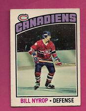 1976-77 OPC  # 188 CANADIENS BILL NYROP ROOKIE EX-MT CARD  (INV#1195)