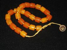 VINTAGE BUTTERSCOTCH AMBER COLOR BAKELITE BEADS NECKLACE 42 GRAMS TESTED